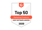 G2 top 50 marketing products badge