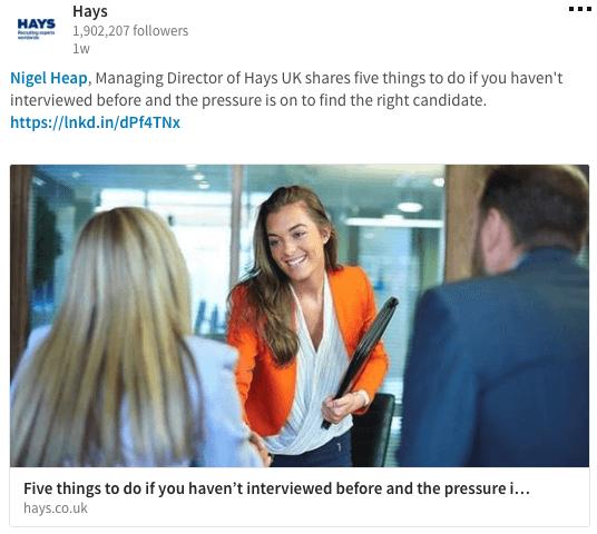 Hays - LinkedIn Page Recruiters