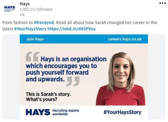 Hays - LinkedIn Page Content