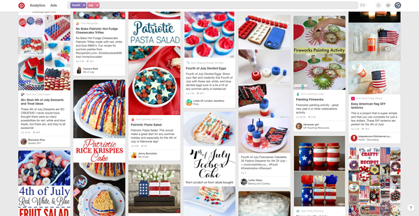 Inspirational recipes and ideas on Pinterest for Fourth of July