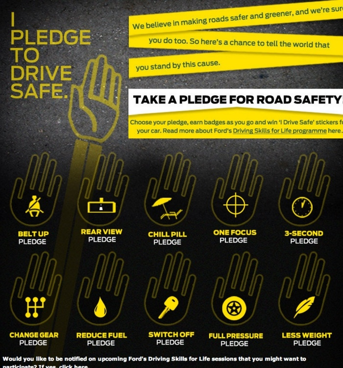 Ford'd drive safe campaign ad