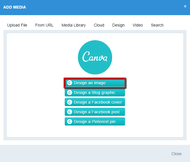 Designing with Canva in Sendible