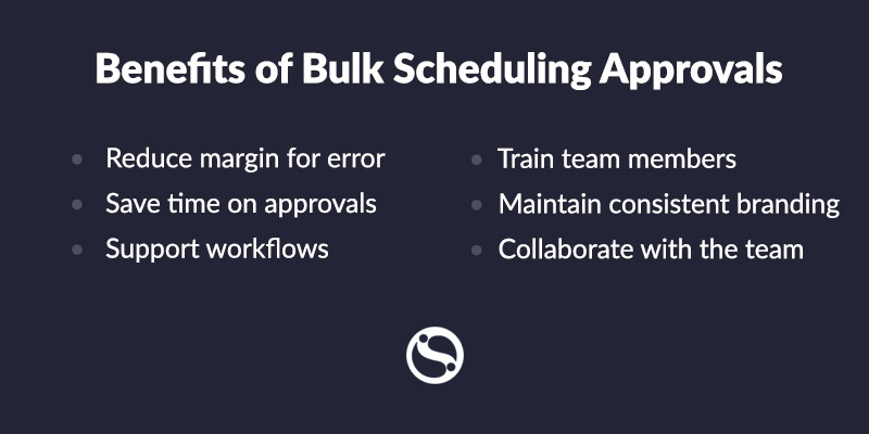 Graphic on the benefits of bulk scheduling approvals