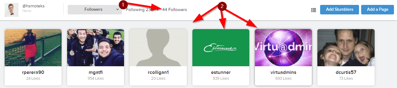 StumbleUpon Followers