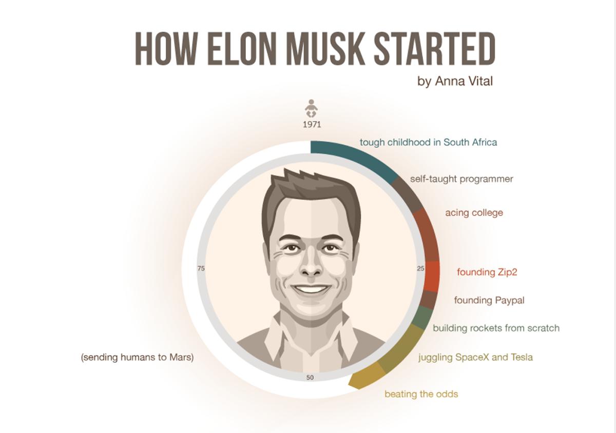 Elon Musk inforgraphic