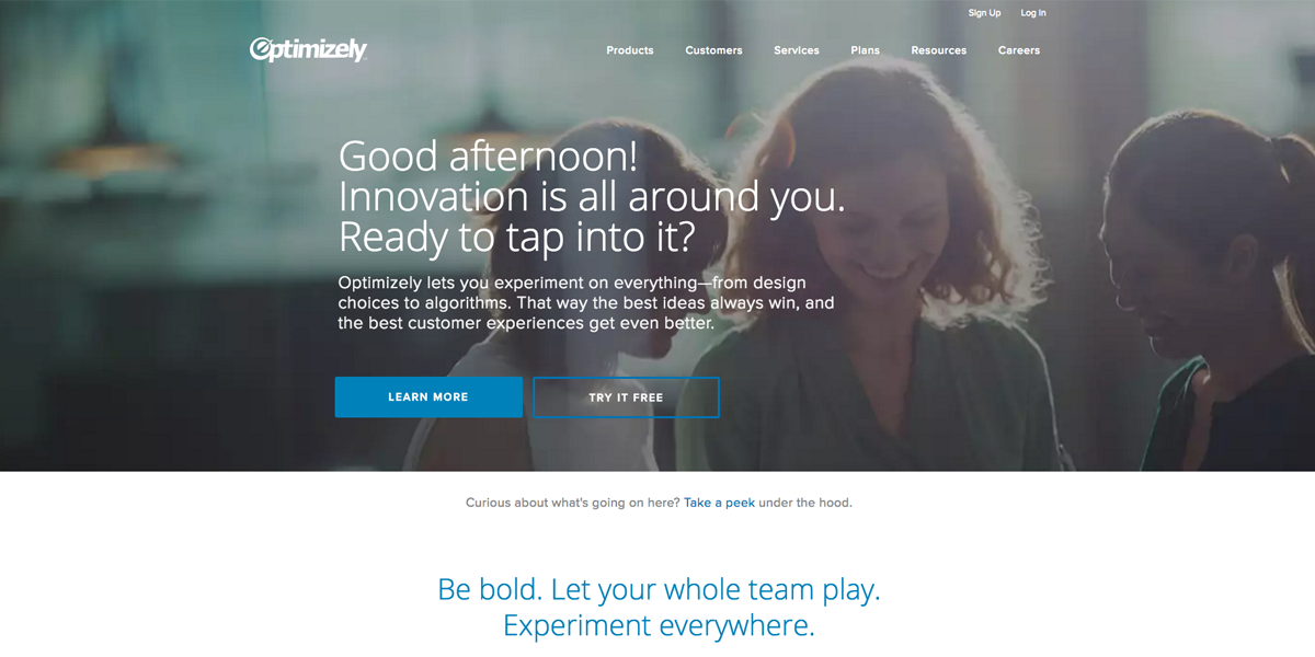 Optimizely - A/B testing software