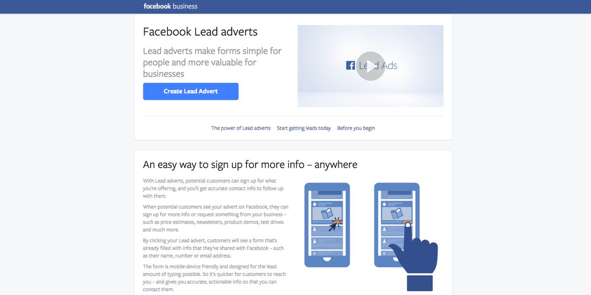 Facebook Lead adverts