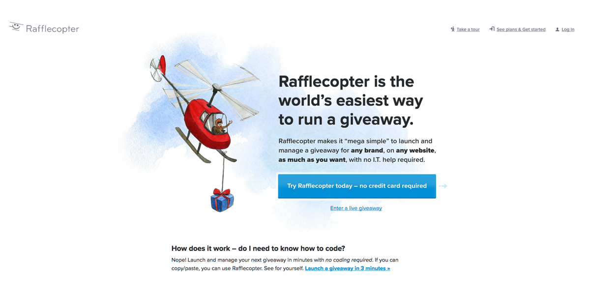 Rafflecopter - giveaway software