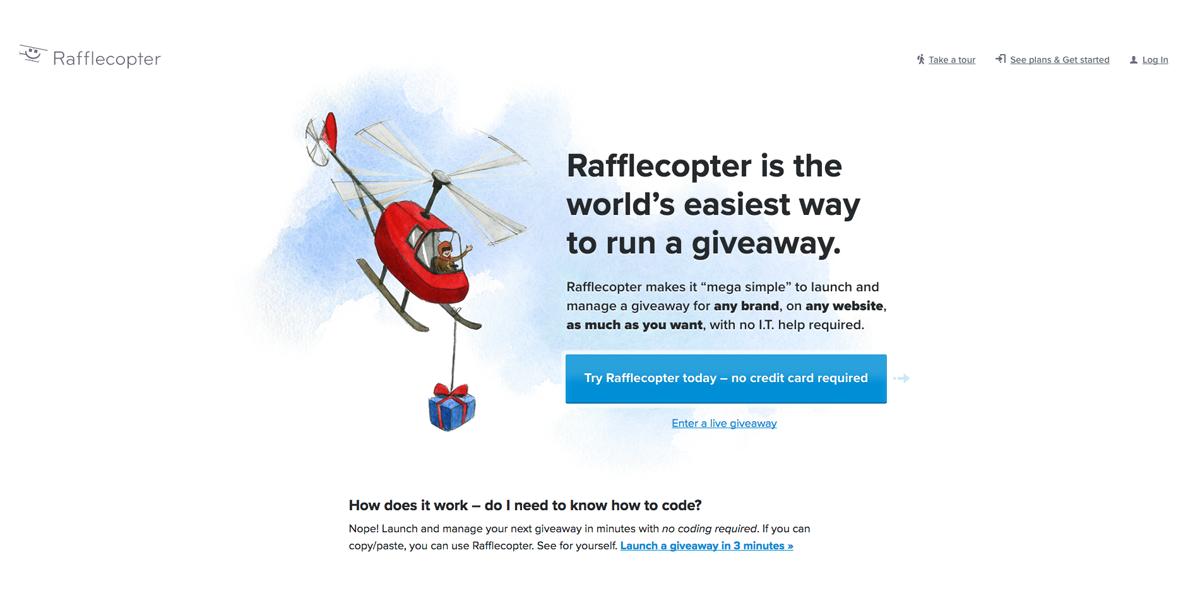 Rafflecopter - giveaway software