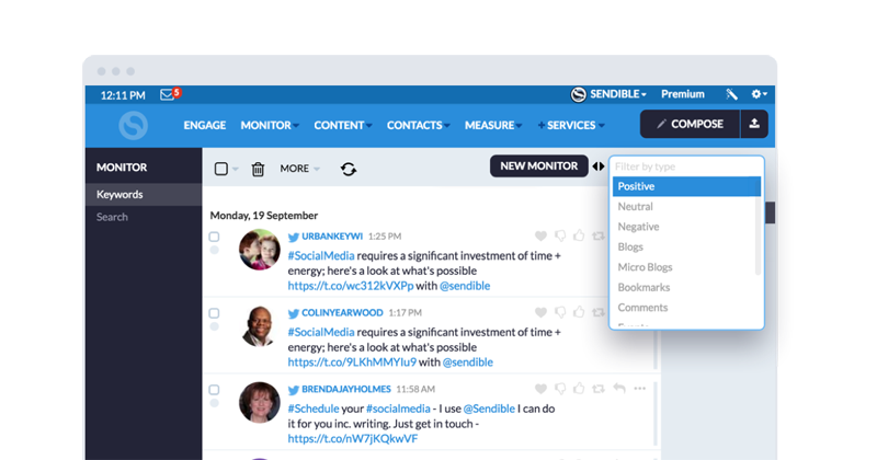 Use social media monitoring to learn more about your audience