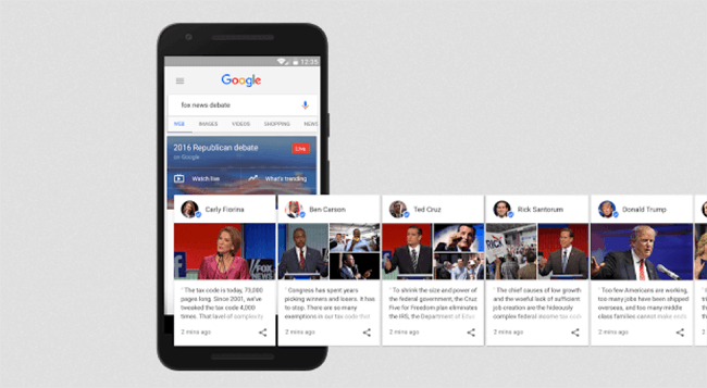 First Google Posts for the US election
