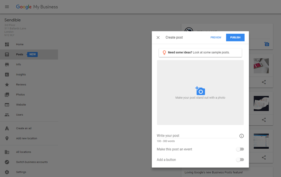 Adding Google Posts natively