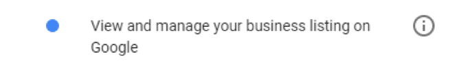 Google My Business permission for Sendible