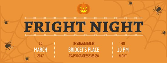 Fright night Facebook cover for Halloween