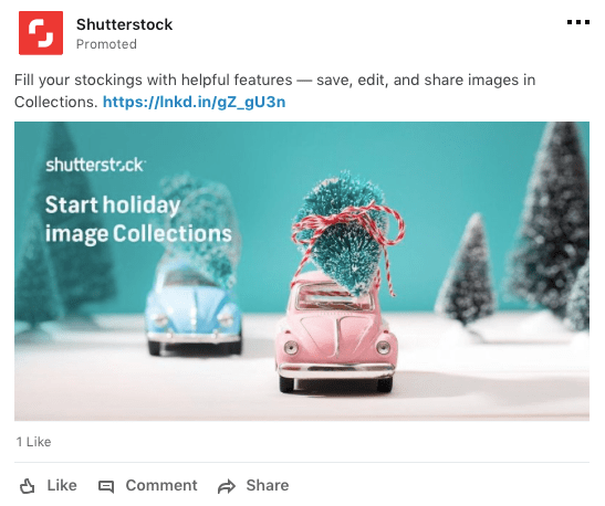 Promote a B2B solution on LinkedIn during the holidays