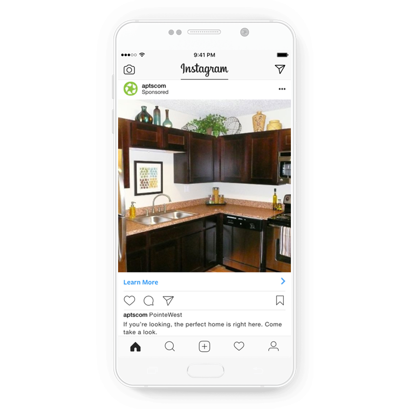 Brand awareness ad by Apartments.com for Instagram