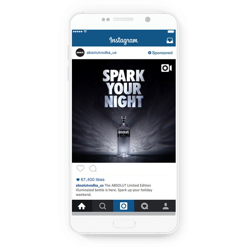 Absolut Vodka's Instagram ad