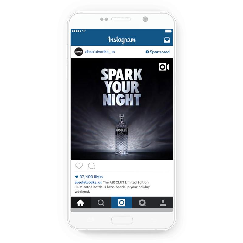 Absolut Vodka's Instagram ad
