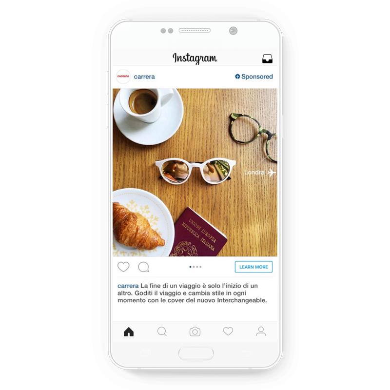 Carrera's Instagram ads that attracted millennials