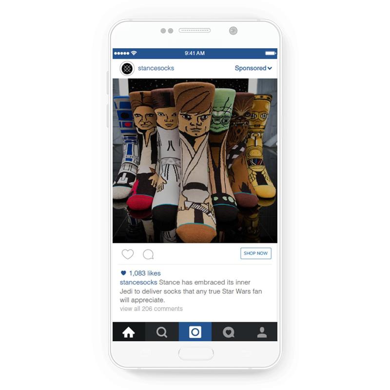 Fun Instagram ad by Stance Socks