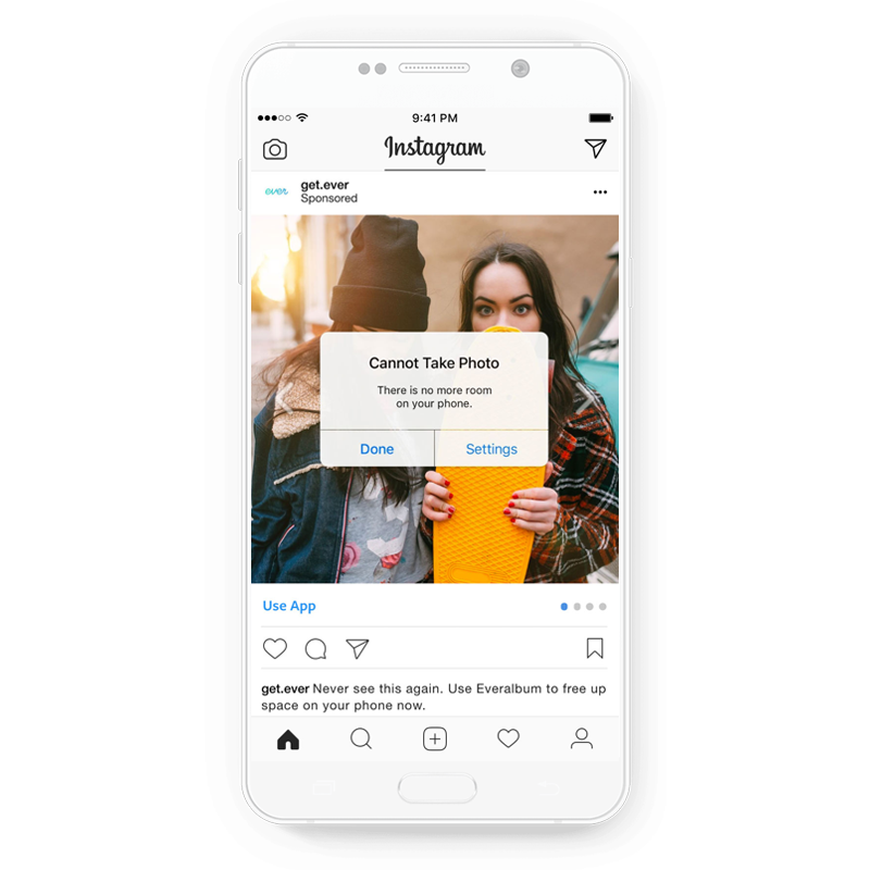 Creative Instagram ad by Ever