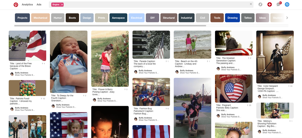 8805e28c710aa Source  Show your patriotic spirit contest on Pinterest