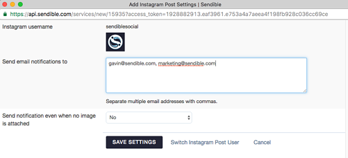 Setting up an Instagram Post service on Instagram