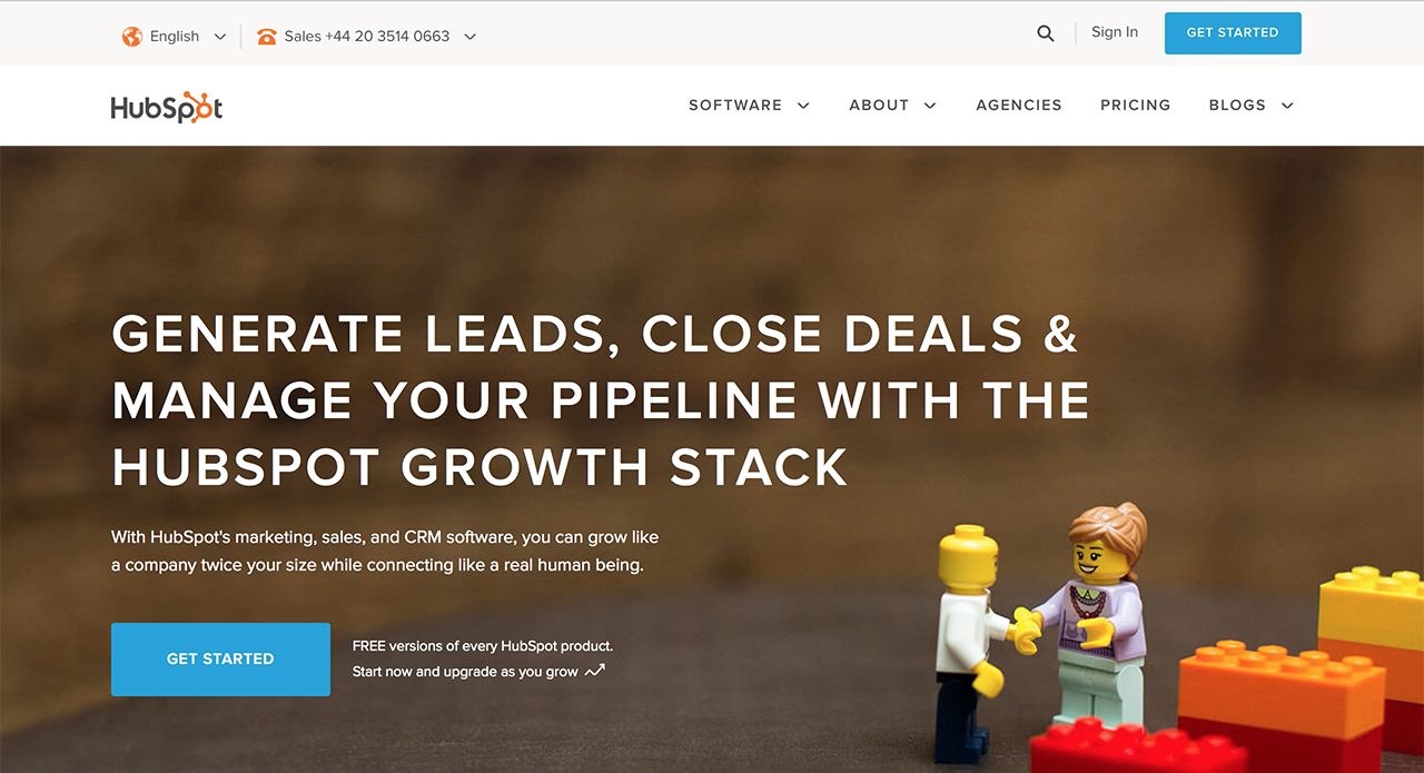 One of the leaders in marketing automation - HubSpot