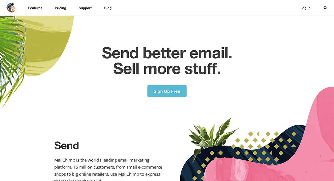 Leading email marketing tool - MailChimp