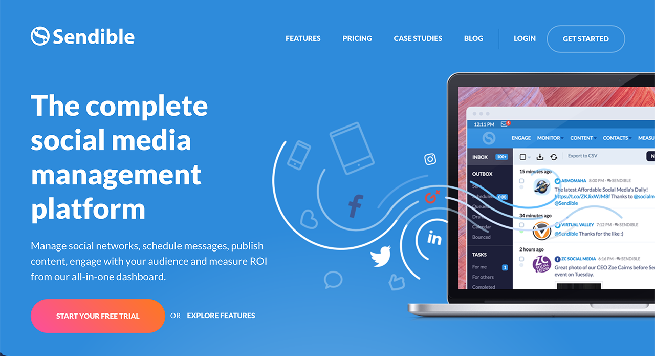 The complete social media management tool for digital agencies - Sendible