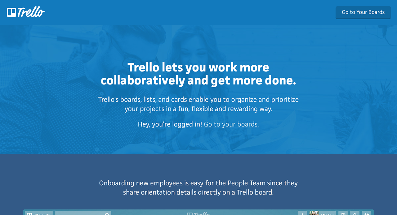 Simple project management with Trello