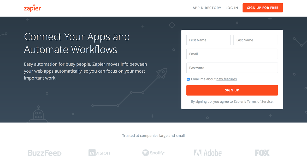 The king of software and app integrations - Zapier