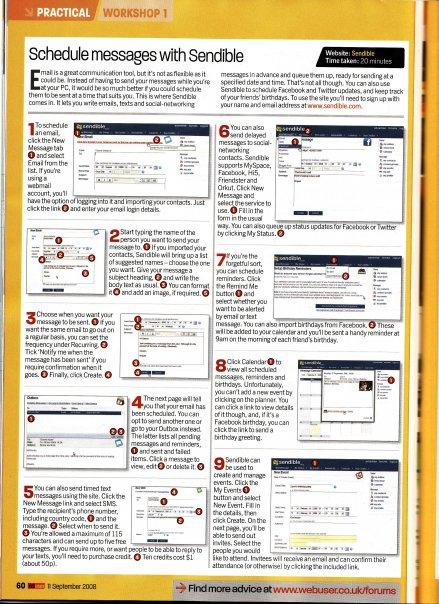 Sendible Article in Webuser Magazine