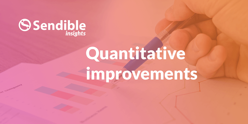Quantitative improvements of our website redesign