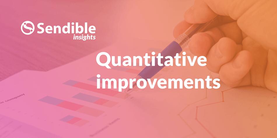 Quantitative improvements of our website redesign