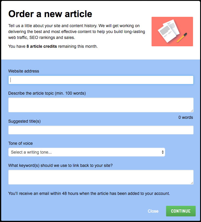 Order a new SEO driven article from Sendible