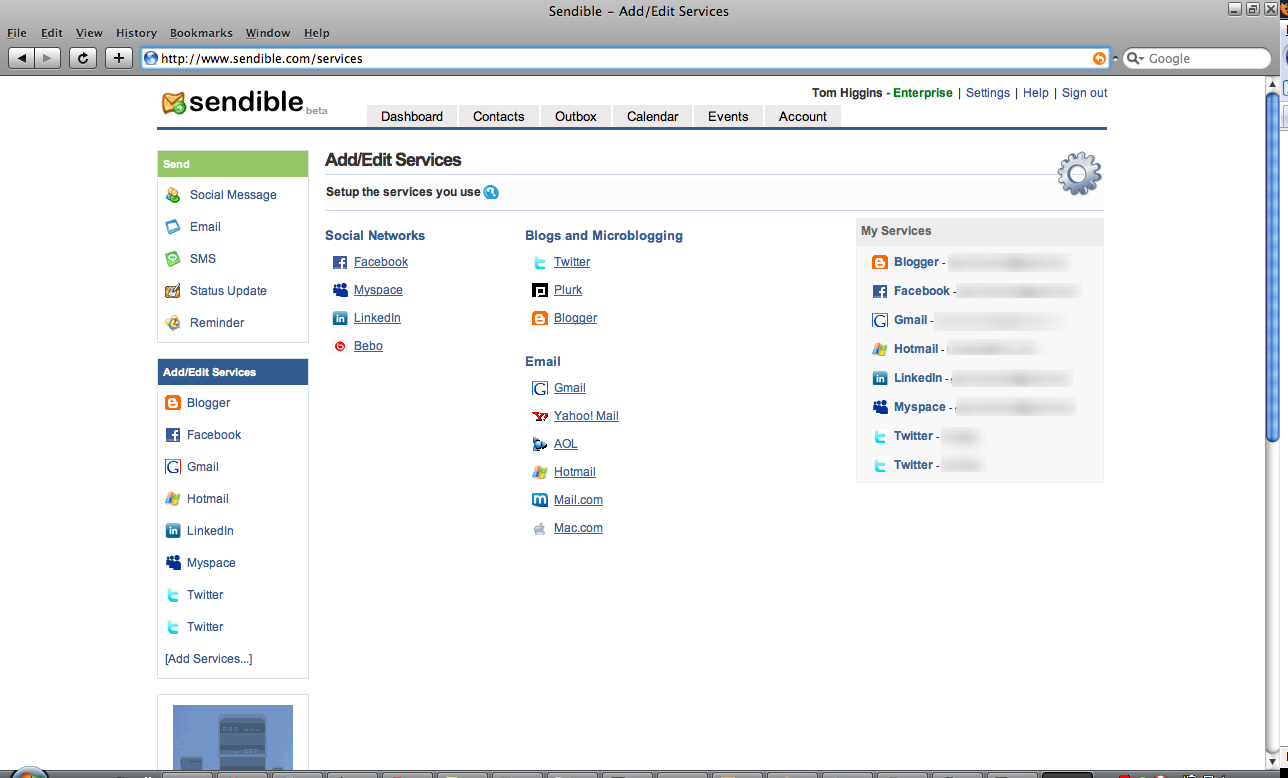 Sendible Email and Social Network Services