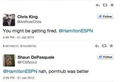 Quirky responses to Hamilton's tweet