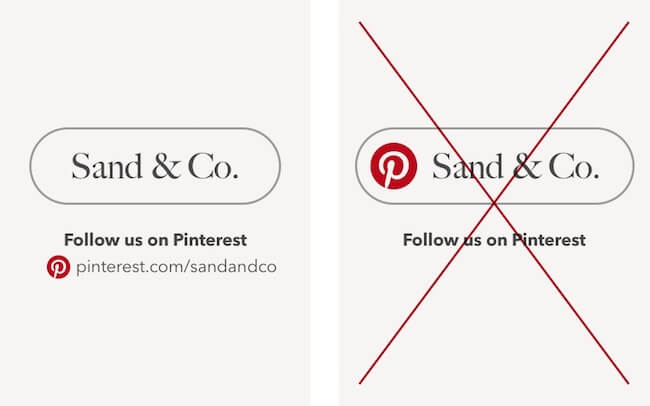 How not to use the Pinterest icons