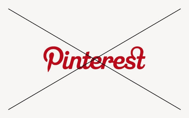 How not to use Pinterest wordmark
