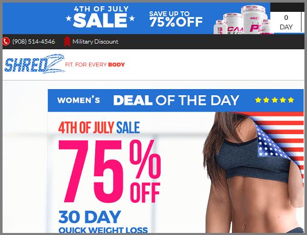 Influencer marketing example by Shredz.com