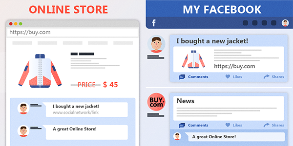 Integrate social media comments and mentions on your online store
