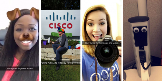 Employees taking over Cisco's Snapchat profile