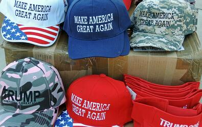 Make America Great Again hats for Donald Trump supporters