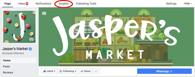 Facebook Page Insights for Jasper's Market