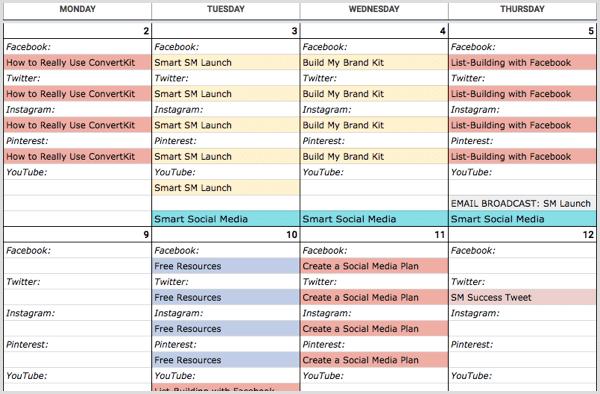 Social Media Calendar by SME
