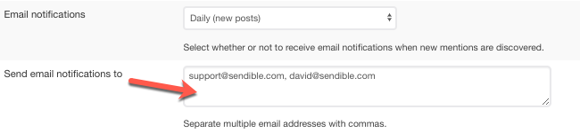Email notifications require an email address