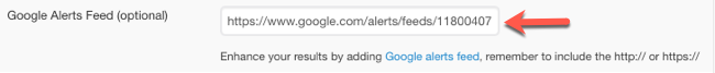 Adding Google Alerts feed to Sendible