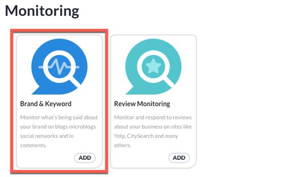 New monitoring set up - option 1