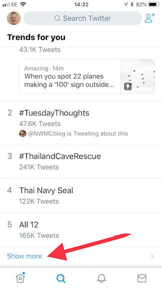 Twitter mobile app trends